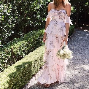 WAYF Abby Off The Shoulder Tiered Dress